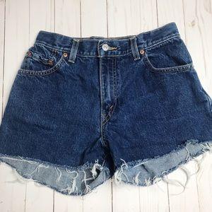 Levi's Vintage 550 Cotton Denim Shorts Size 25
